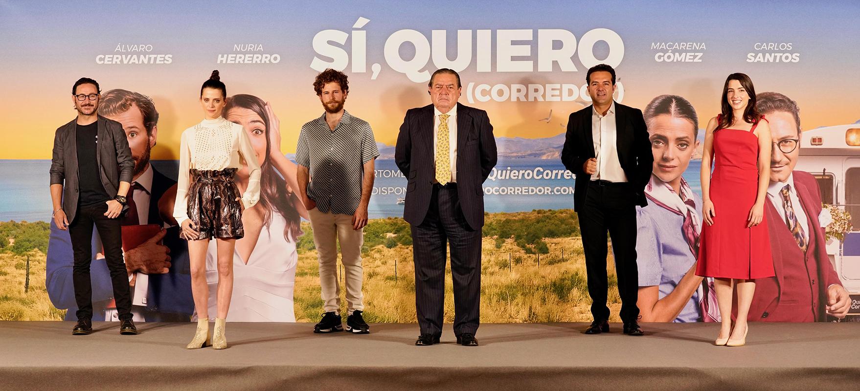 Carlos Santos, Macarena Gómez, Álvaro Cervantes, Vicente Boluda, Alfonso Sánchez y Nuria Herrero en la presentación de Si, quiero (Corredor)