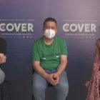 Àlex Monner, Secun de la Rosa y Marina Salas en la presentación de El Cover
